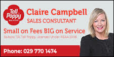 CLAIRE CAMPBELL – TALL POPPY REAL ESTATE